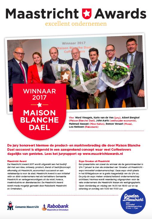 adv winnaar Maastricht Award 2017 Maison Blanche Dael
