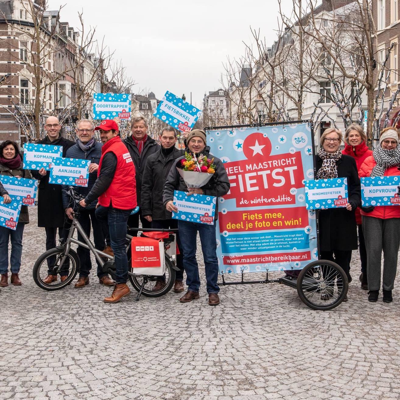Campagne Winterfietsen